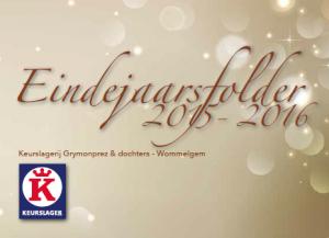 eindejaarsfolder keurslager grymonprez 2015 - 2016