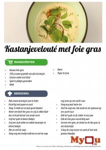 Kastanjevelouté met foie gras