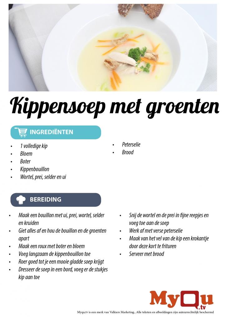 Kippensoep met groenten