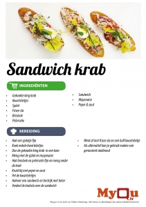 Sandwich krab