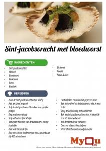 Sint-jacobsvrucht met bloedworst