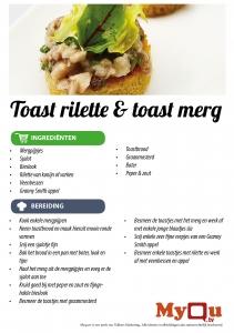 Toast rilette of toast merg