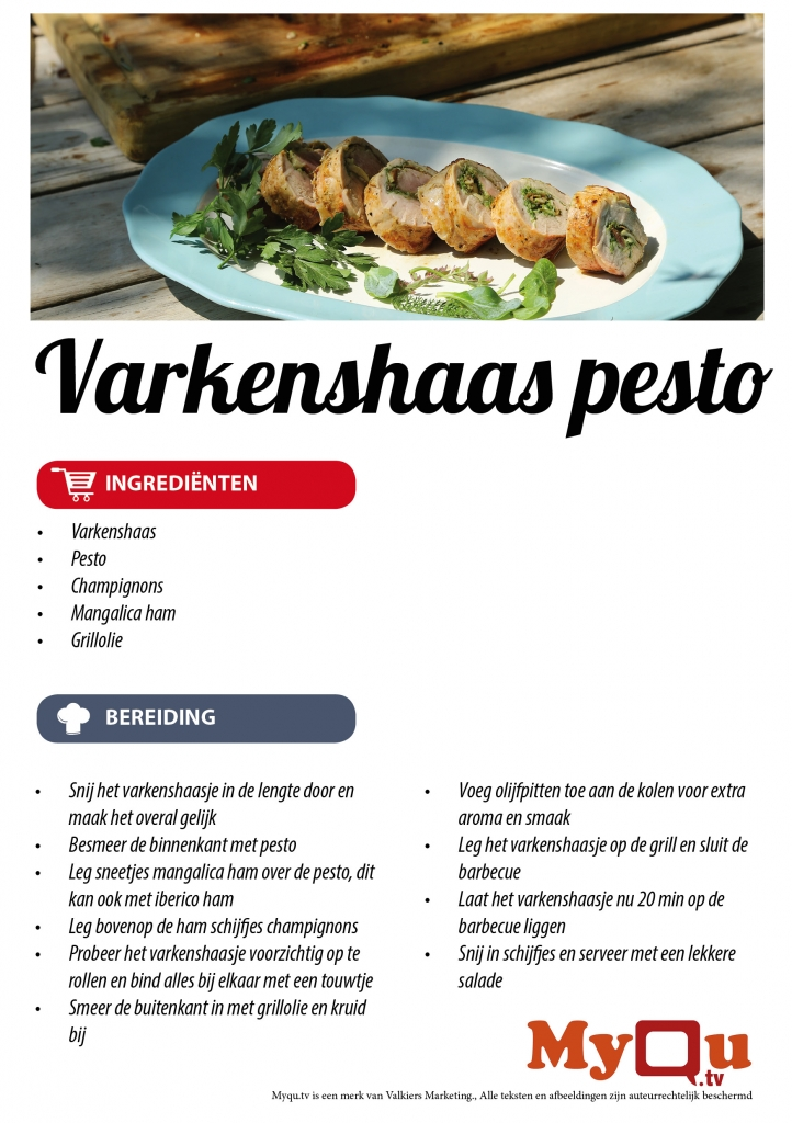 Varkenshaas Pesto