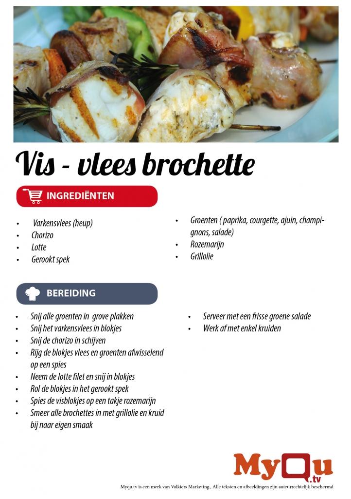 Vis - vlees brochette